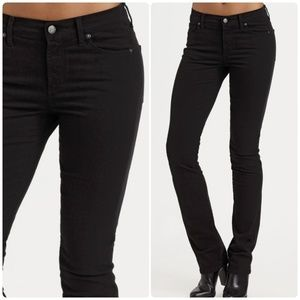 Citizens of Humanity Black Straight Leg Jeans 28